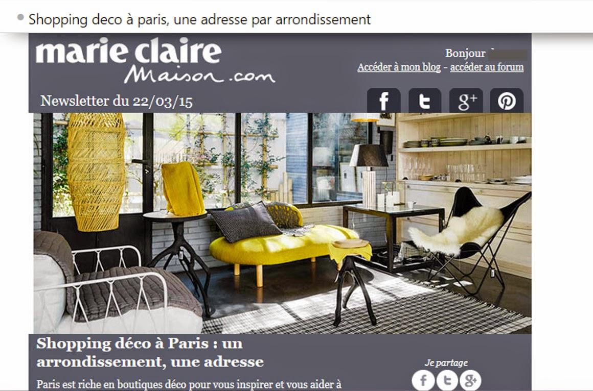 Newsletter Déco Marie-Claire Maison