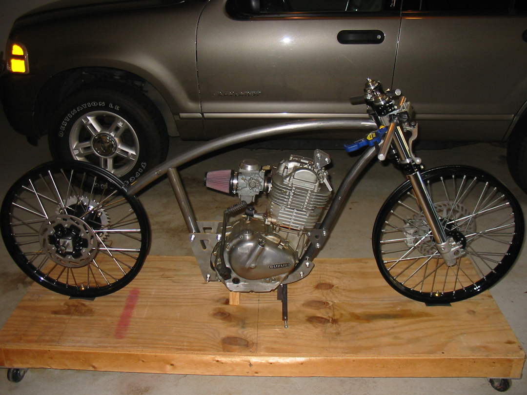 Creating a Kustom GN400 Motorcycle: More frame progress... and an ...