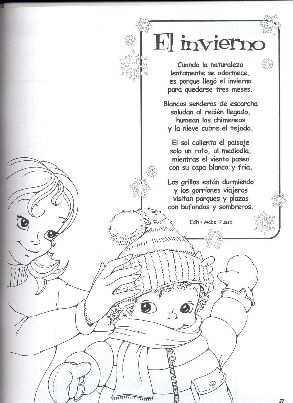 Fichas para primaria: Poema del invierno