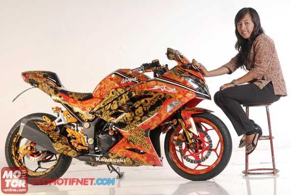 modif ninja 250r motif batik