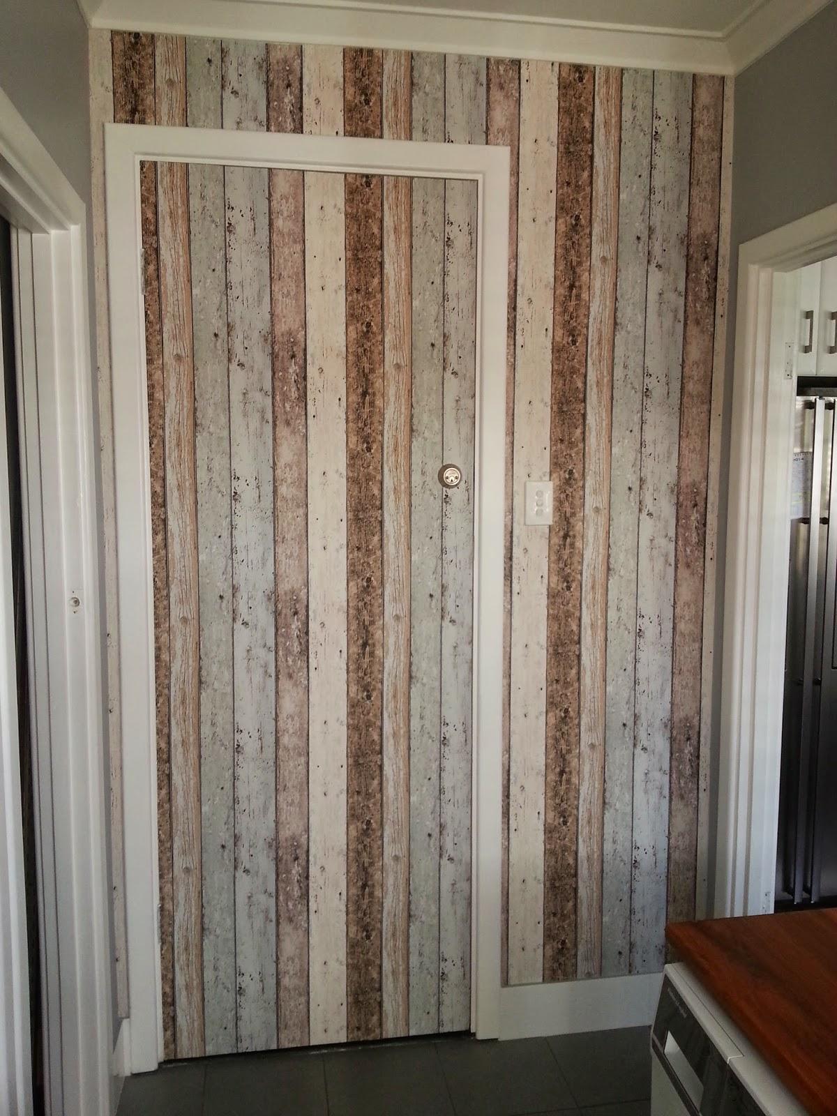 Jarrah Jungle Laundry Renovation How To Wallpaper A Door And Wall