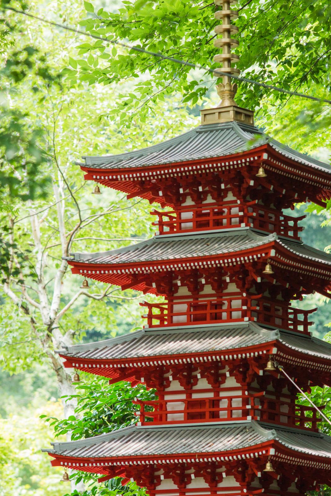 武蔵国分寺、七重塔推定復元模型の写真