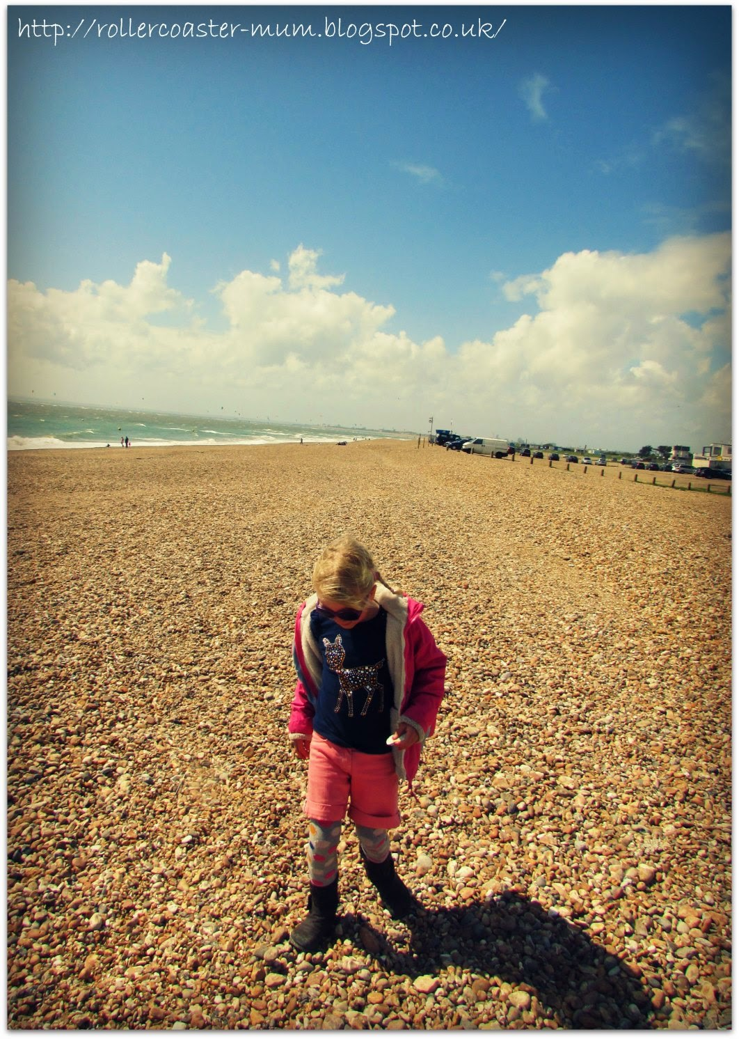 beachcombing for pretty things, Hayling Island
