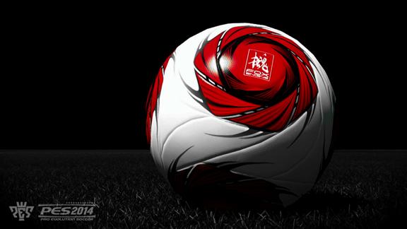 A bola oficial do PES 2014 (ainda sem nome) com o logo da Fox Engine