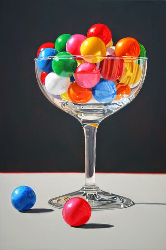 12-Taste-of-Bubbly-Daryl-Gortner-Reflections-in-Art-Photo-Realistic-Paintings-www-designstack-co