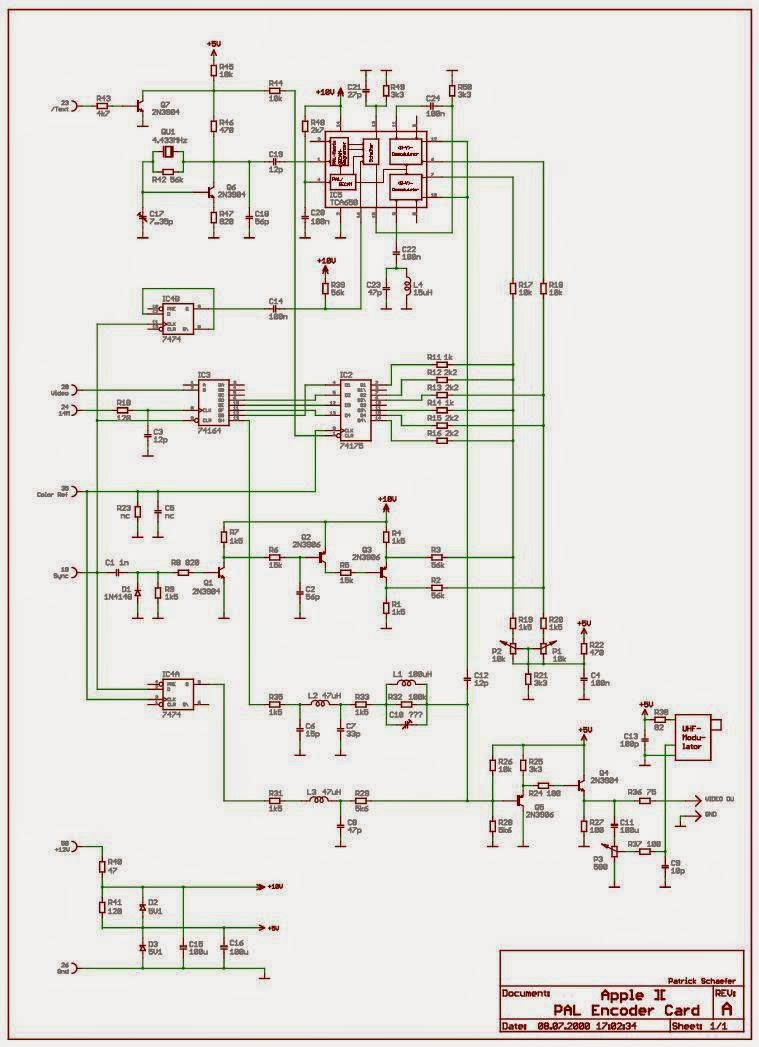 Apple Ii Projects April 2015 1 Circuit Diagram
