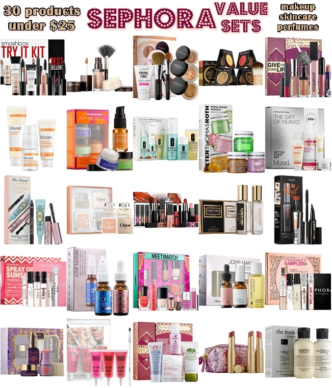 30 under $25 VALUE SETS from SEPHORA: Makeup/Skincare/Perfume