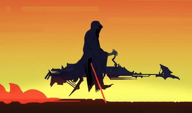 """Fusión """"Star Wars y El Señor de los Anillos"""": Espectro del Anillo motorizado"""