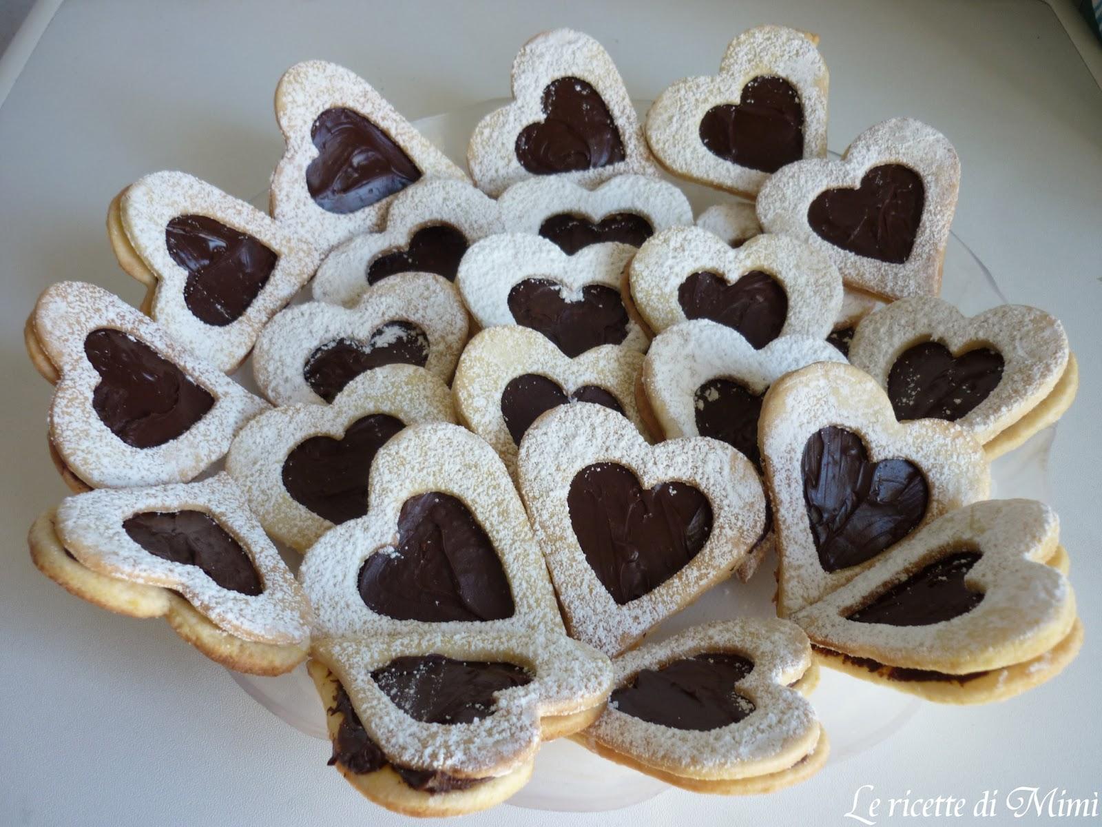 Estremamente Le ricette di Mimì: Biscotti farciti al cioccolato UT16