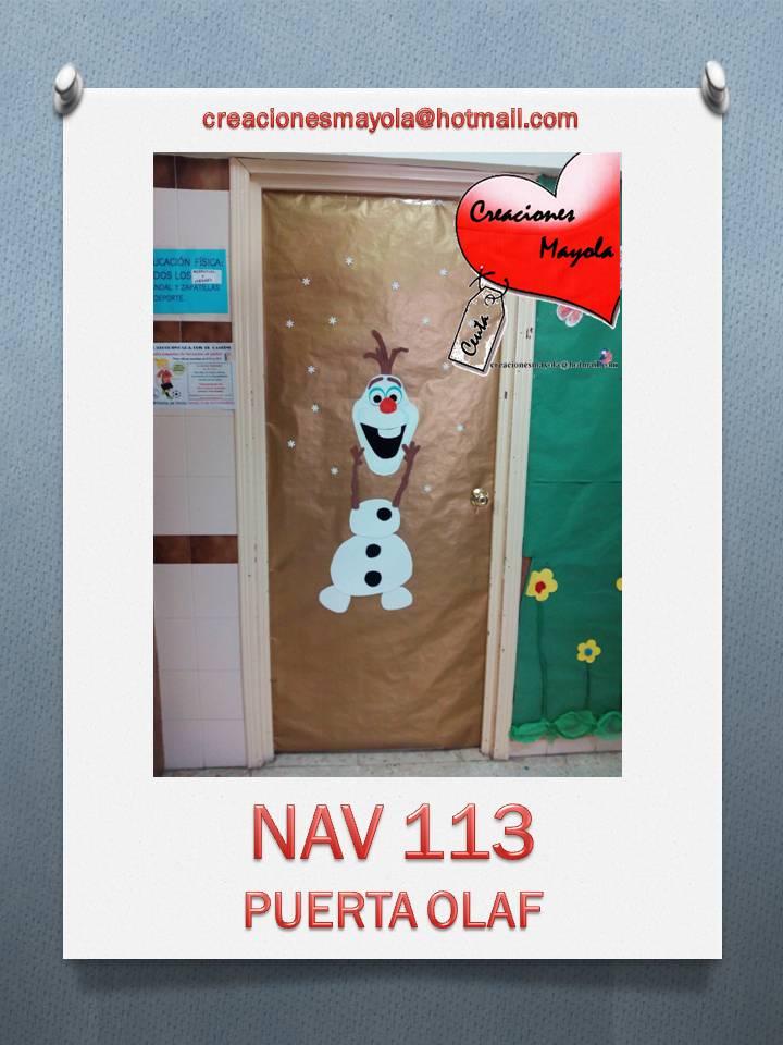 Creaciones mayola puerta olaf puerta navidad puertas for Puertas escolares decoradas