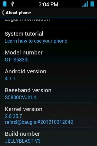 Samsung Galaxy Young GT-S5360 Ke Jelly Bean