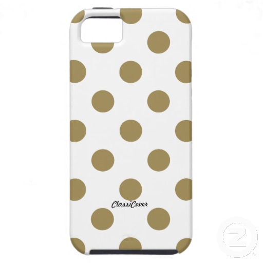 gold polka dot iPhone case