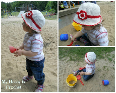 Crochet summer/sun hat baby/toddler