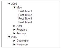 Google blogger archive