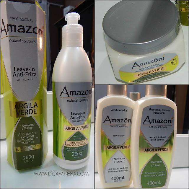 Resenha Leave-in e Máscara Amazoní - Argila Verde