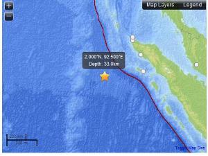lokasi gempa sumatera