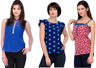 Yepme : Buy Women's Beautiful Tops At Flat 80% off Starting at Rs, 165
