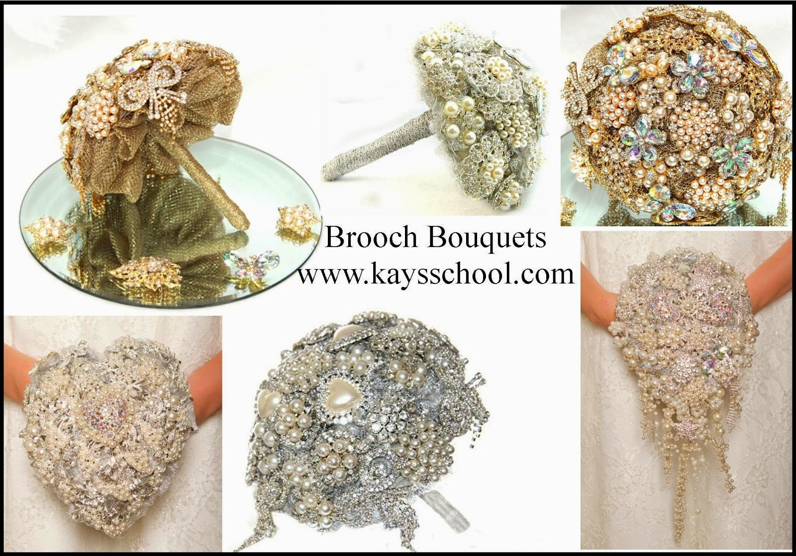 Crystal Brooch Wedding Bouquet