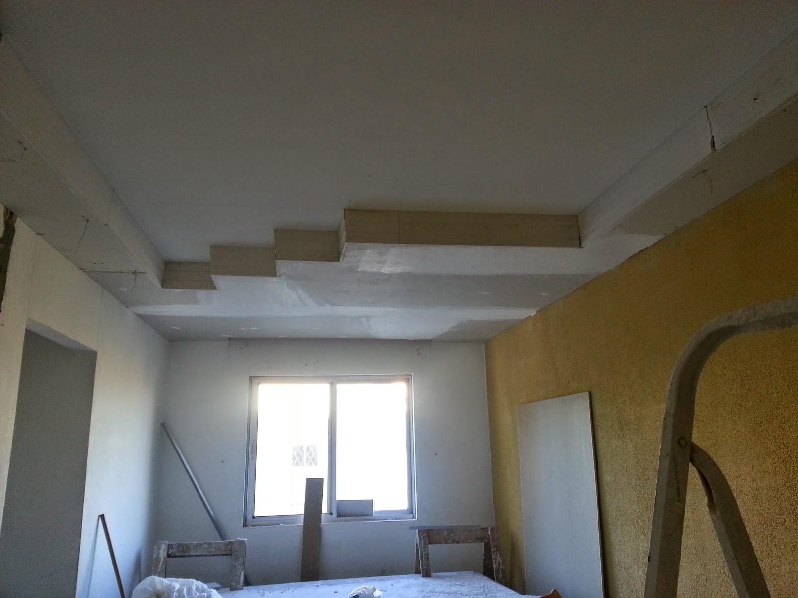 Todo o trabalho com o gesso foi realizado com drywall (gesso  #305C9B 1600 1200