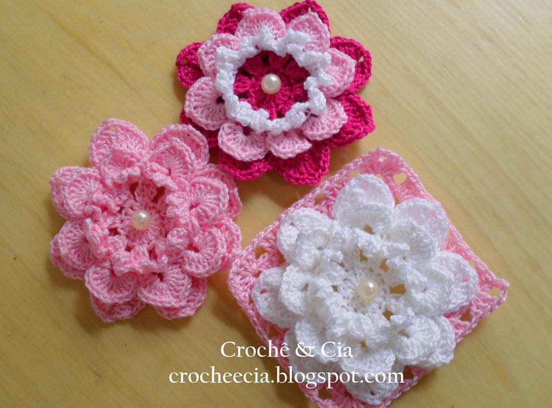Croche E Cia Flores De Croche