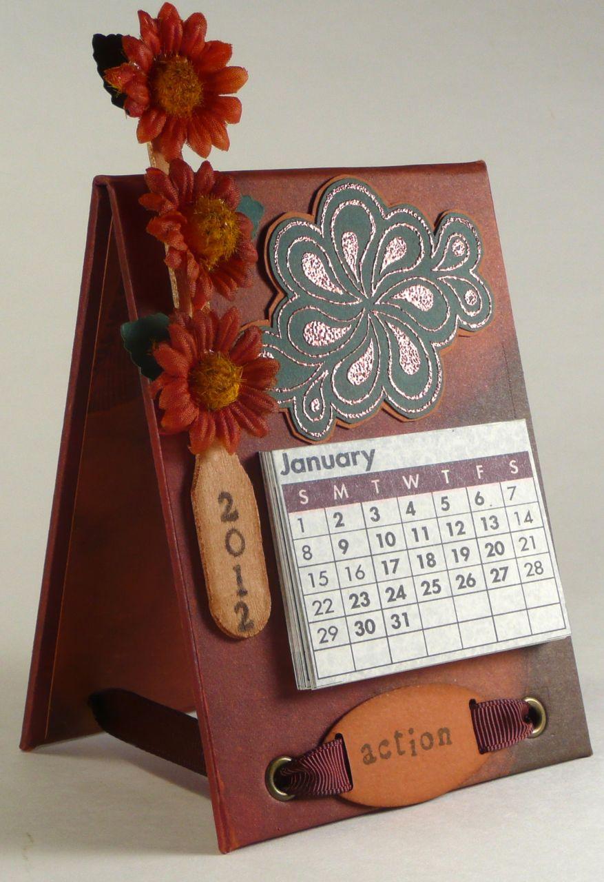 Handmade Calendar Tutorial : Lift bridge cards and crafts calendar easel a tutorial