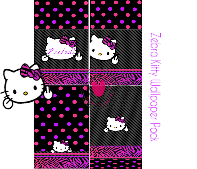 the gallery for gt hello kitty zebra wallpaper