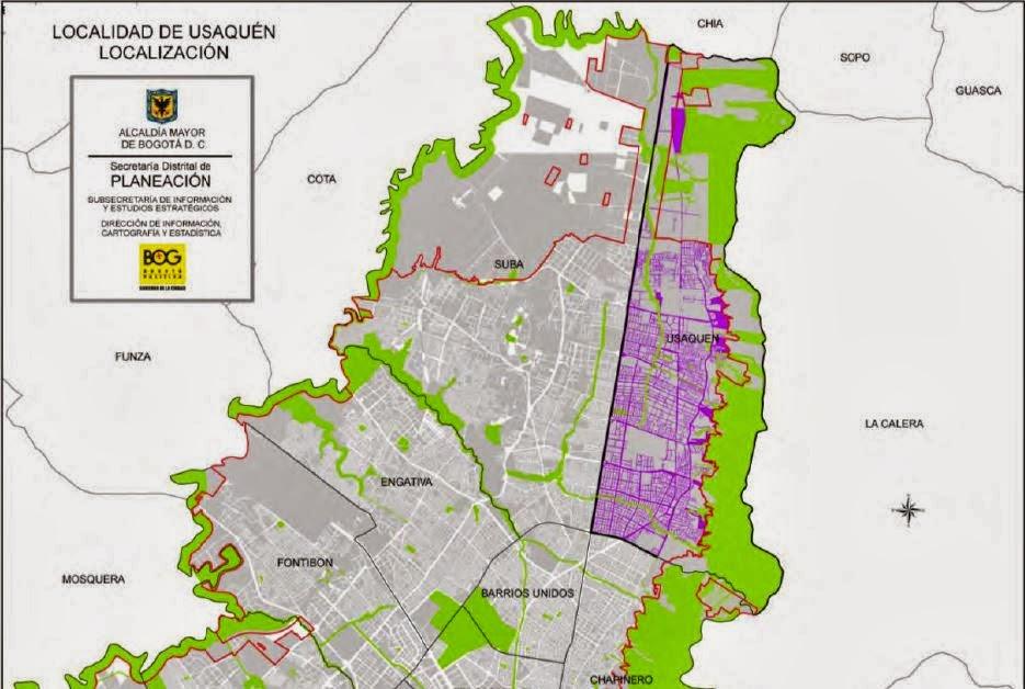 Procesos geol gicos y geomorfol gicos de usaquen for Barrio ciudad jardin norte bogota
