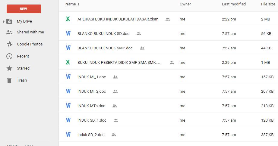 Download Contoh Blanko Dan Aplikasi Buku Induk Siswa Tk Paud Sd Mi Smp Mts Sma Smk Ma Operator
