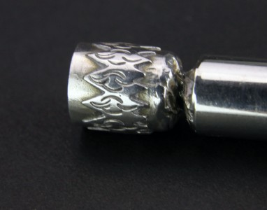Fossils antiques modern 20thc solid silver novelty christmas cracker toothpick holder - Novelty toothpicks ...