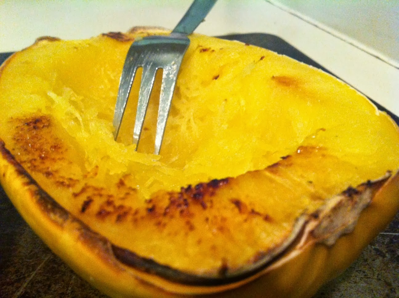 with garlic and butter baked spaghetti squash with garlic and butter ...