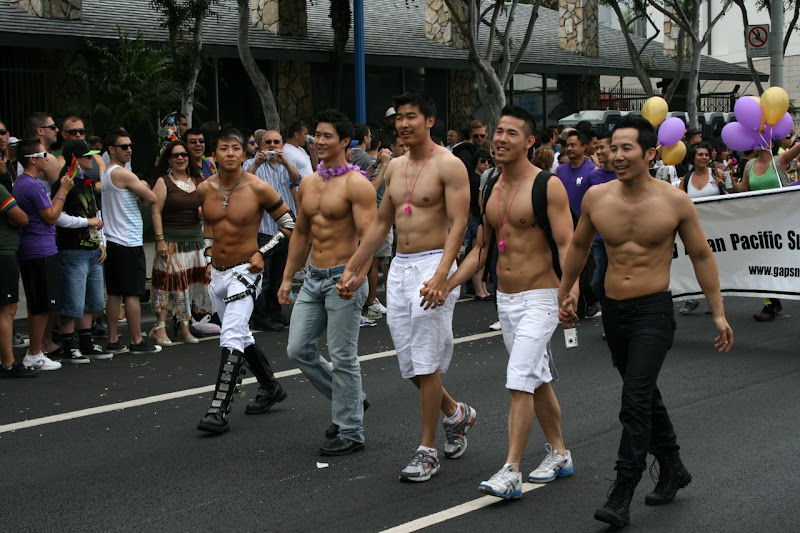 Asian muscle boys WEHO Pride 2011