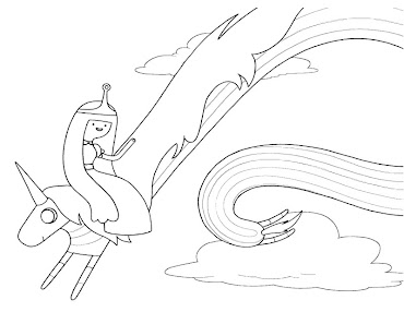 #5 Lady Rainicorn Coloring Page