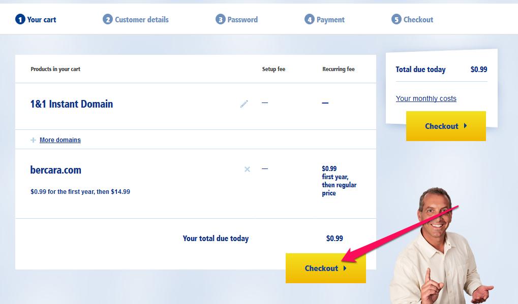 klik CheckOut untuk meneruskan pemesanan