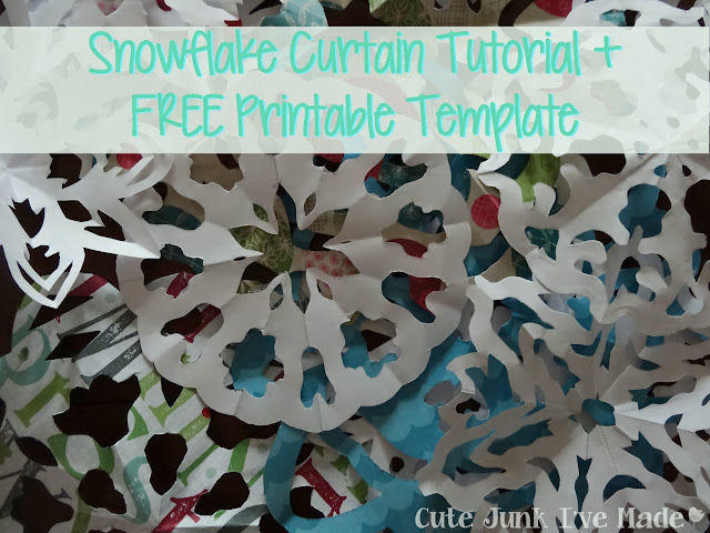 Paper Snowflake Curtain Tutorial | Cute Junk I've Made