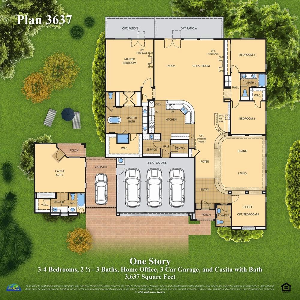 News information distinctive homes las vegas plan 3637 for Casita plans for backyard