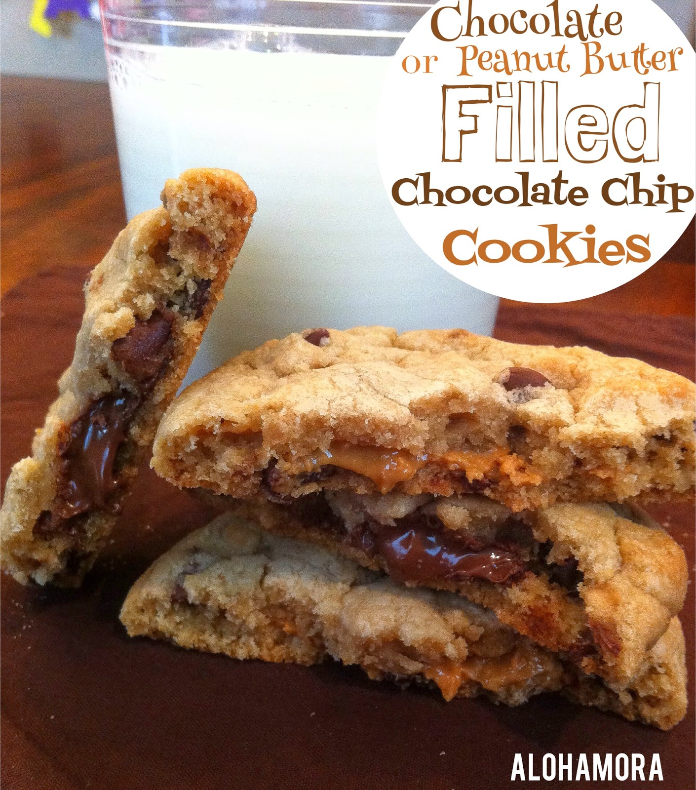 Chocolate or peanut butter FILLED chocolate chip cookies.  B/c a little extra fun in a cookie is always nice. Alohamora Open a Book http://alohamoraopenabook.blogspot.com/