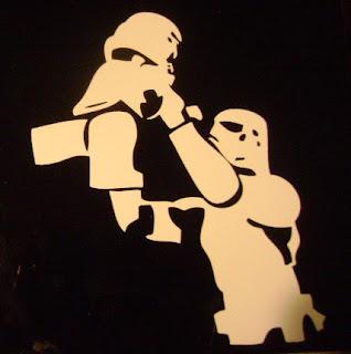 Lego Stormtrooper Dad wall sticker