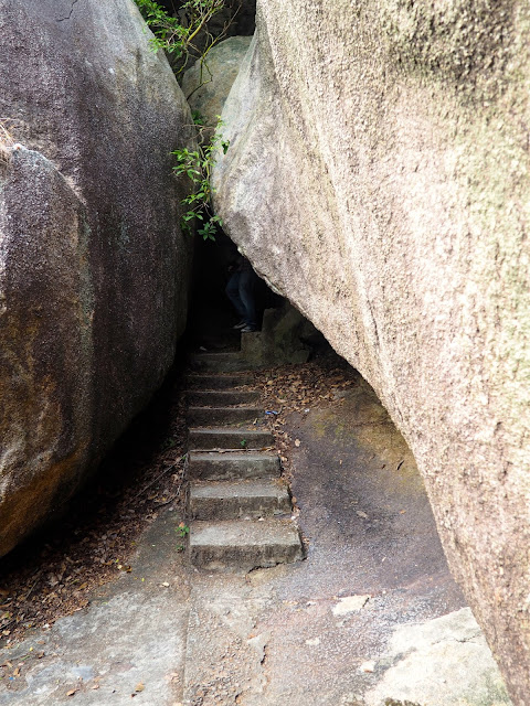 Pathway through rocks near Cheung Po Tsai cave, Cheung Chau Island, Hong Kong