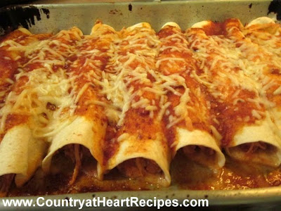 Country at Heart Recipes: Slow Cooker Black Bean Chicken Enchiladas