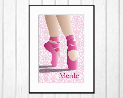 pink toe shoes poster