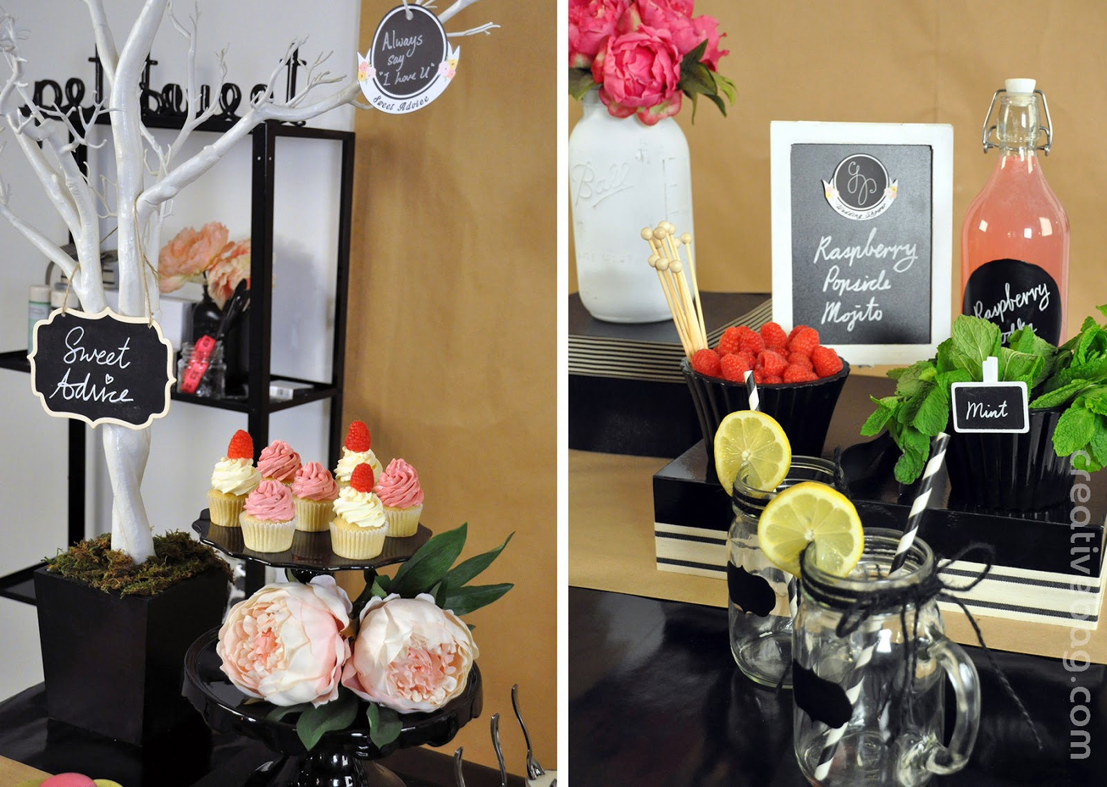 bridal shower inspiration from Petite & Sweet and Creative Bag | see the video on YouTube
