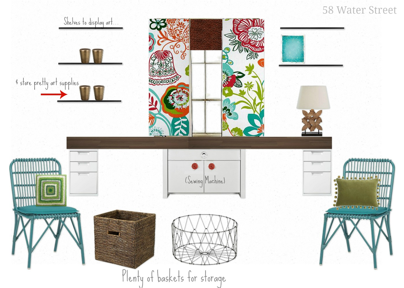 Craft Room Design Layouts 1400 x 1000