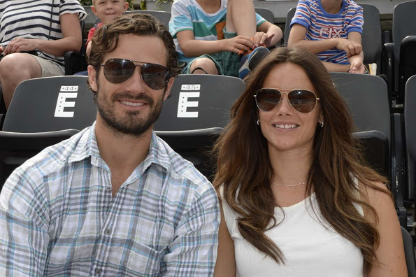 Prince Carl Philip And Princess Sofia In Bastad