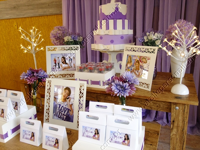 Marcadores Aniversários , Decoração de Festas , Violetta Disney