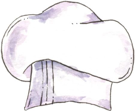 Imágenes de gorros de chef para colorear - Imagui