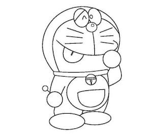Sketsa Gambar Mewarnai Doraemon 201608