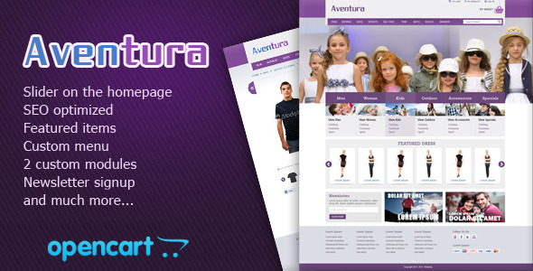 eCommerce-Aventura-OpenCart-Store-Theme