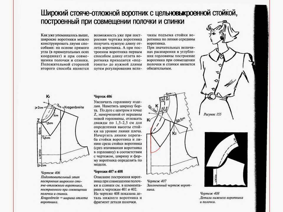 Выкройка дубленки от ШКОЛЫ ШИТЬЯ Моделирование воротника дубленки