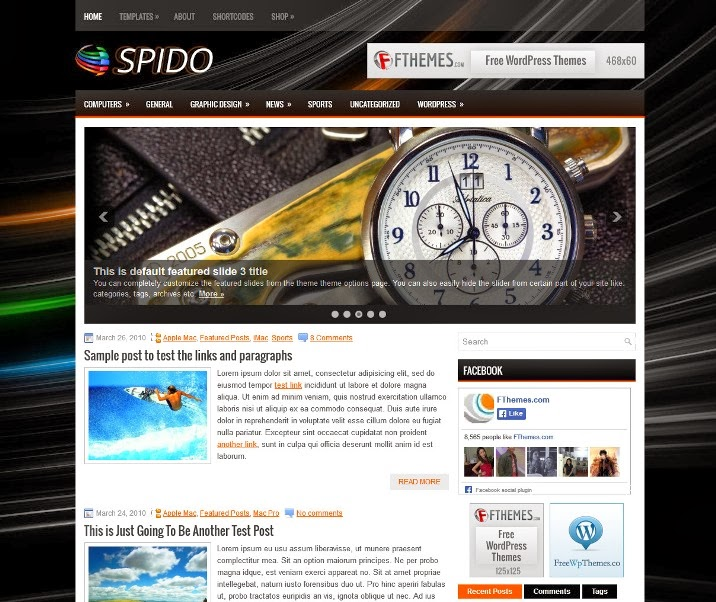 Spido - Free WordPress Theme