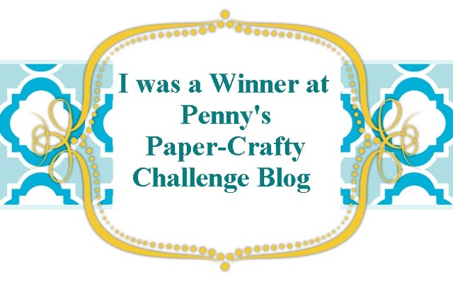 Winner Penny's Paper Crafty Jan 2016